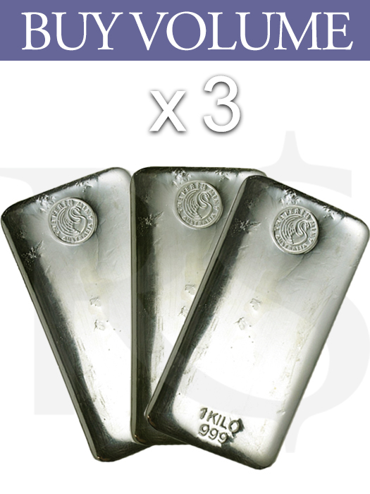 Buy Volume 3 Or More Perth Mint 999 Silver Kilo Bar Buy